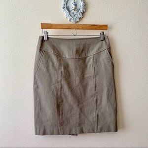 Banana Republic light brown/khaki stretch skirt